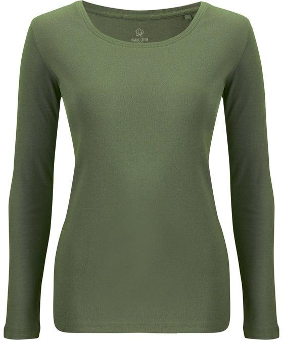 Women's Long Sleeve Basic Rib Organic Top
