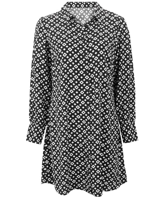 Women's Geo Shirt Dress