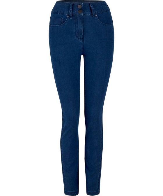 Women's High Waist Double Button Jean
