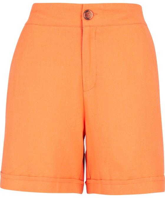 Women's High Waist Linen Blend Short