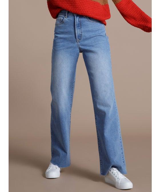 Women's High Waist Wide Leg Jean
