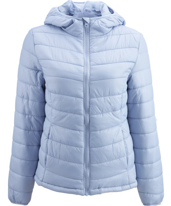 Women's Hooded Long Sleeve Puffer Jacket