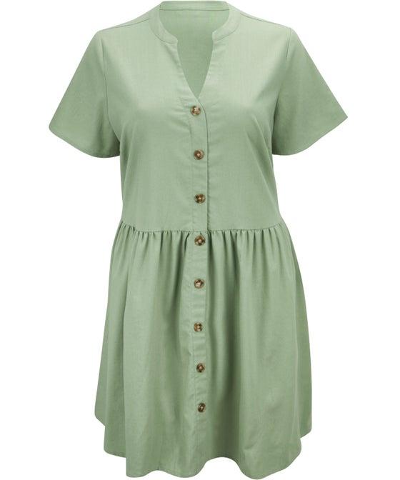 Women's Isobelle Linen Blend Collared Dress