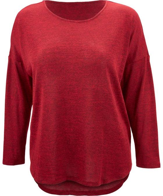 Women's Isobelle Plus Long Sleeve Drop Hem Top