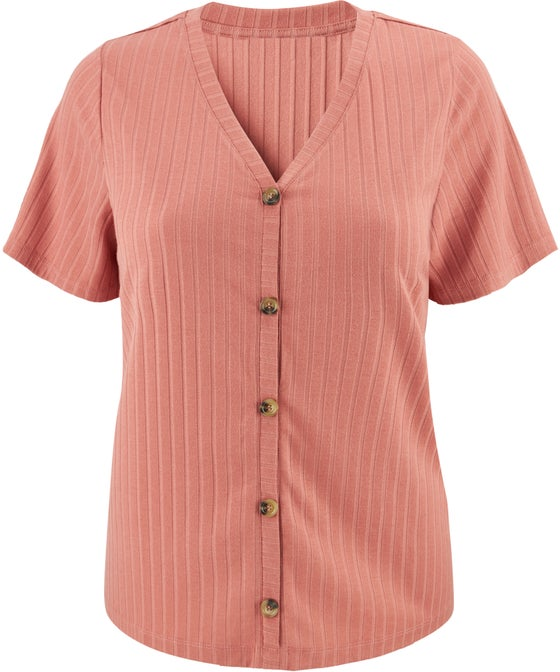 Women's Isobelle Rib Button Top