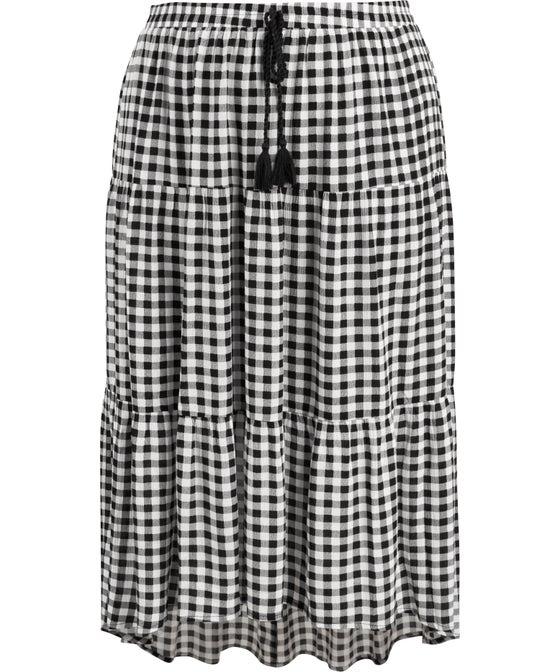 Women's Isobelle Plus Tiered Hi Lo Skirt