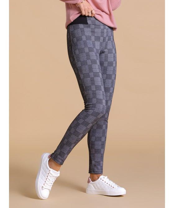 Women's Jacquard Large Check Classic Pant