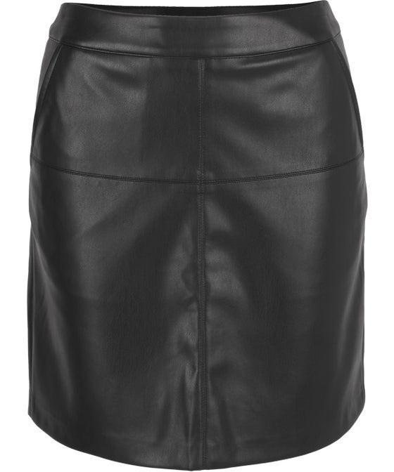 Women's Pleather Mini Skirt