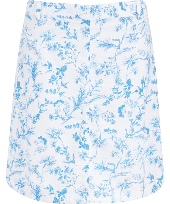 Women's Linen Blend Panelled Skirt