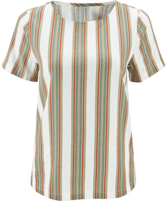 Women's Linen Blend Shell Top