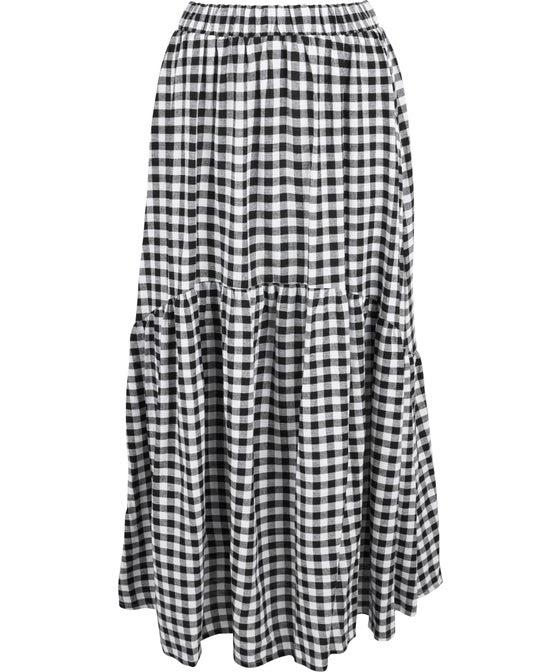 Women's Linen Blend Tier Skirt