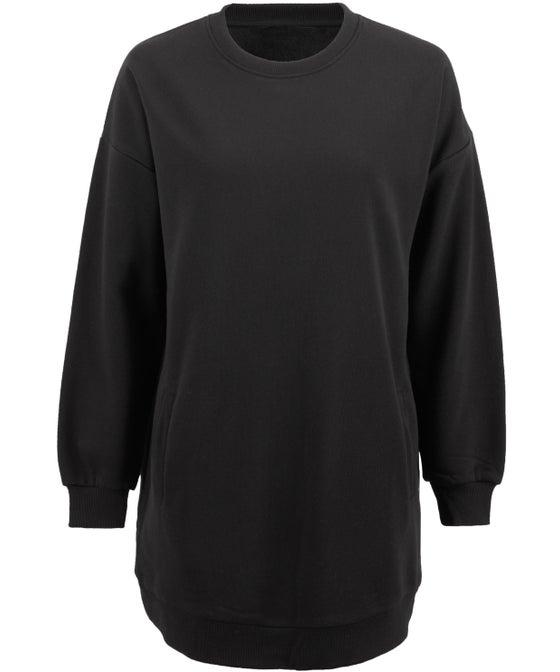 Women's Longline Crew Neck Sweater