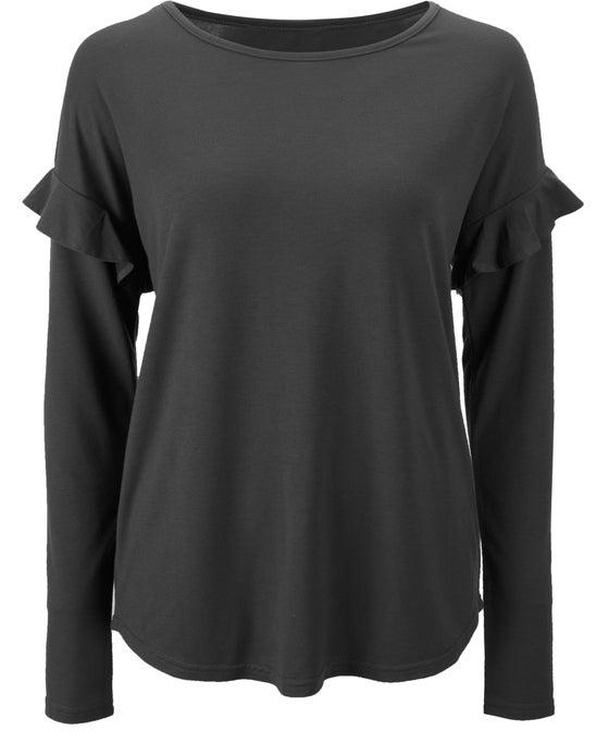 Women's Long Sleeve Frill Detail Top