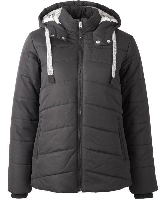 Women's Matte Hooded Puffer Jacket