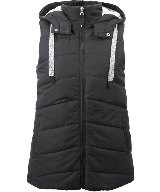 Women's Matte Hooded Puffer Vest