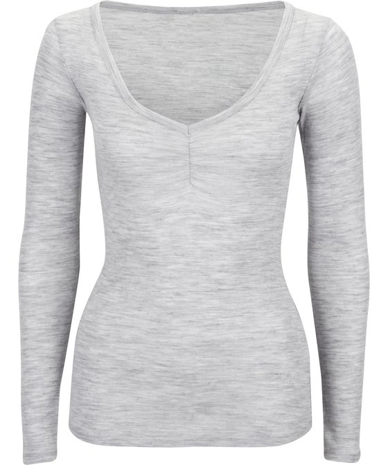 Women's Cinched V-Neck Top