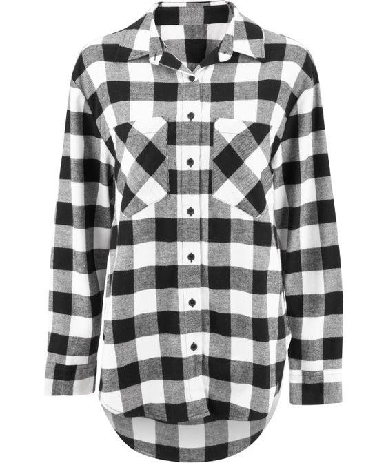 Women's Oversized Check Shirt