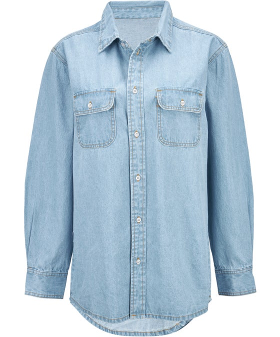Women's Oversized Denim Shirt