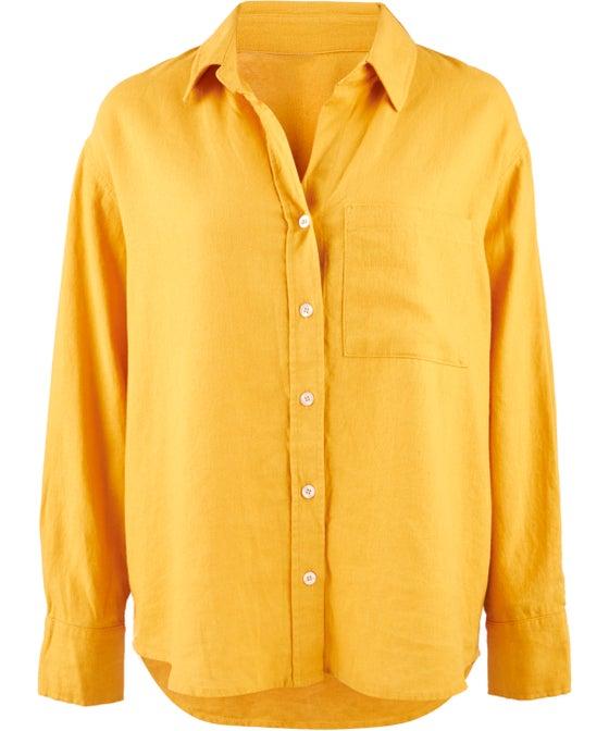 Women's Oversized Linen Blend Shirt