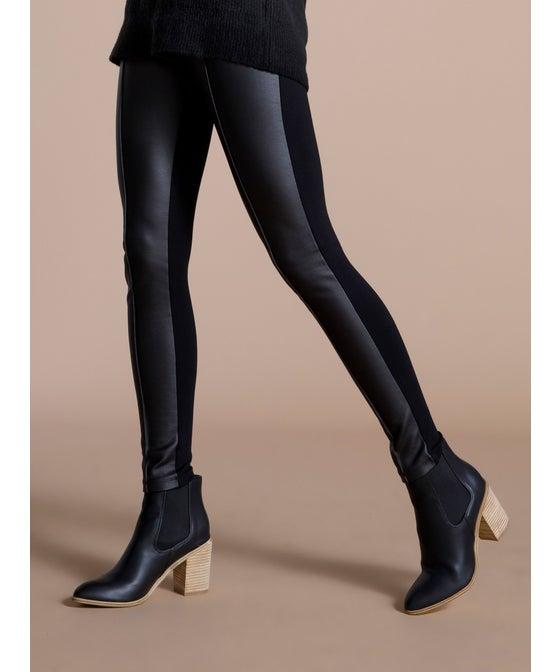 Women's Pleather Ponte Legging