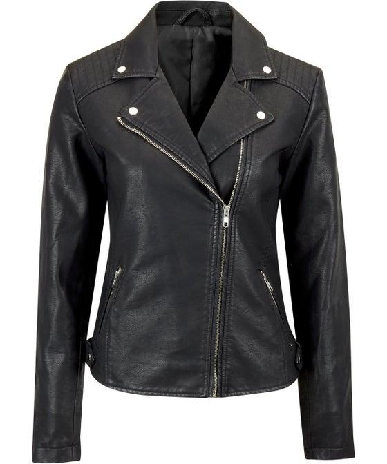 Women's Pleather Biker Jacket