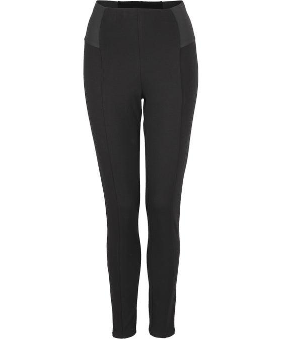 Women's Ponte Wide Elastic Zip Pant