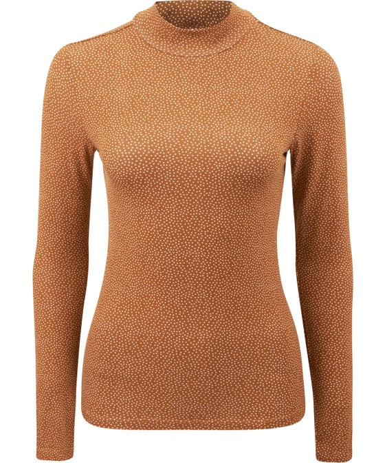 Women's Printed Roll Neck Top