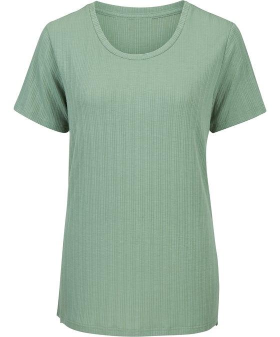 Women's Rib Split Hem T-shirt