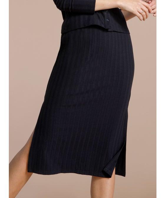 Women's Ribbed Midi Skirt