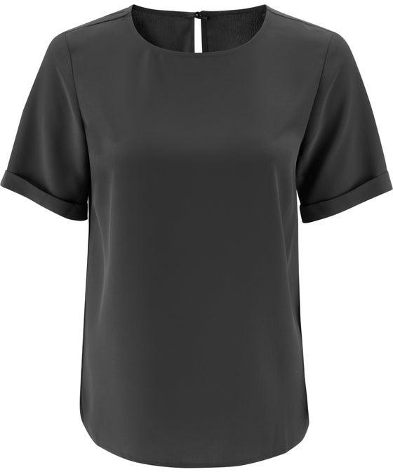 Women's Roll Sleeve Woven Top
