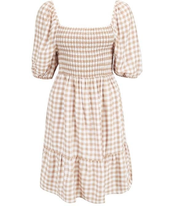 Women's Shirred Mini Dress