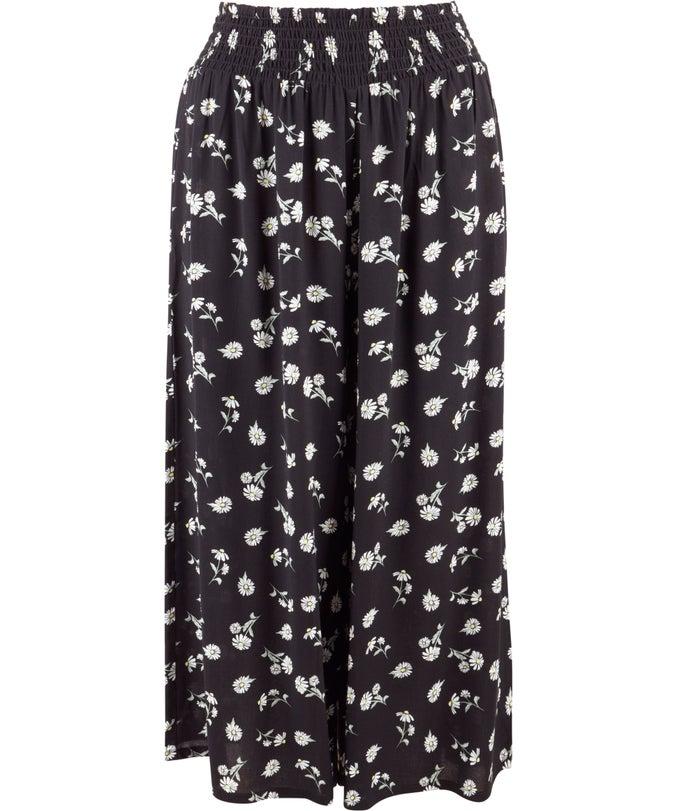 L Shirred Waist Culotte