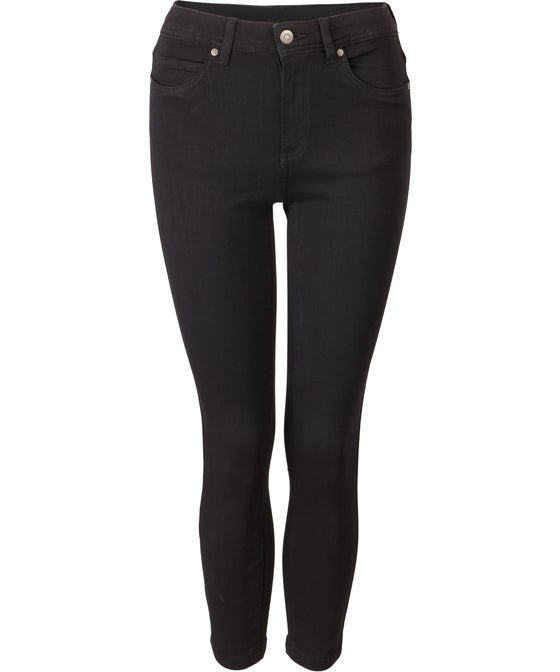 Women's Soft Touch Mid Rise 7/8 Length Jeans