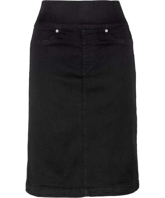 Women's Soft Touch Pull On Denim Skirt