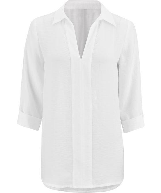 Women's Textured Drape Shirt