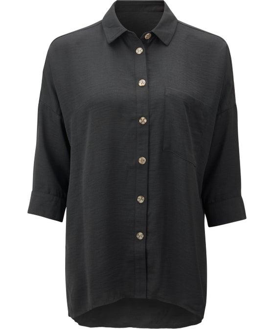 Women's Textured Longline Shirt