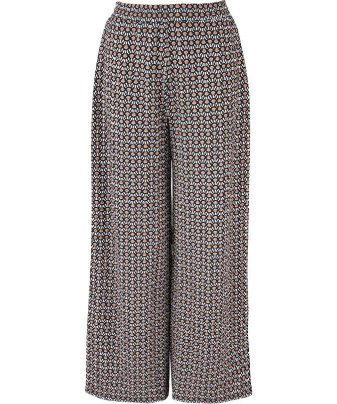 L Textured Wide Leg Pants