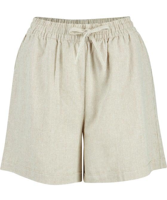 Women's Tie Waist Linen Blend Shorts