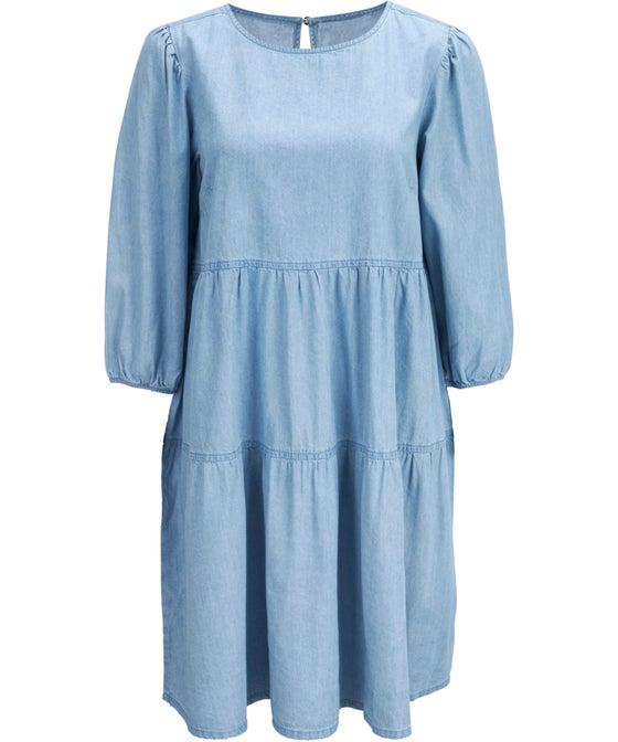 Women's Tiered Chambray Dress