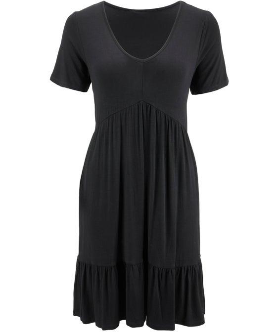 Women's V Neck Knit Dress
