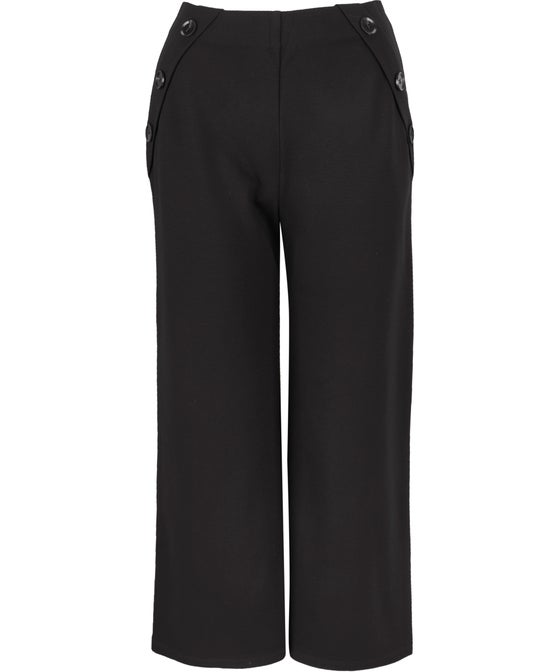 Women's Wide Leg Button Detail Culotte