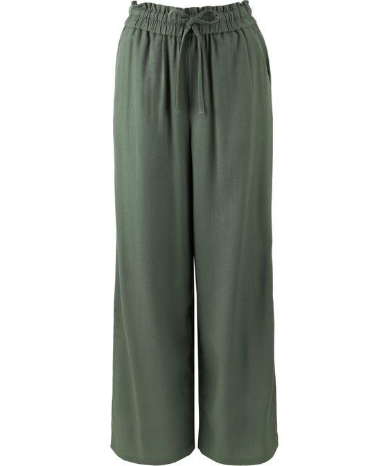Women's Wide Leg Linen Blend Pant
