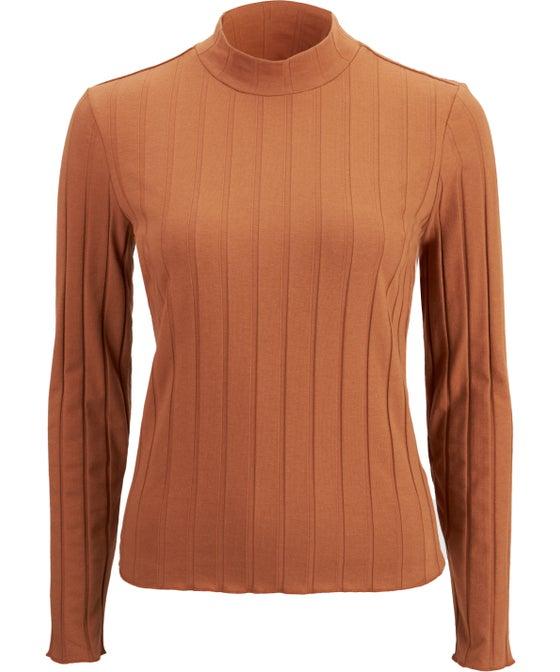 Women's Wide Rib Long Sleeve Top