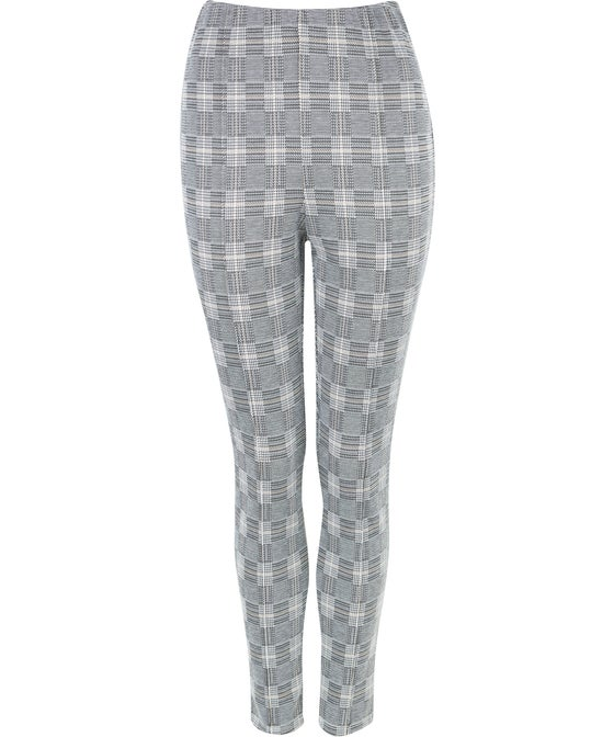 Women's Jacquard Check Pintuck Pant