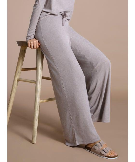 Women's Rib Wide Leg Pant