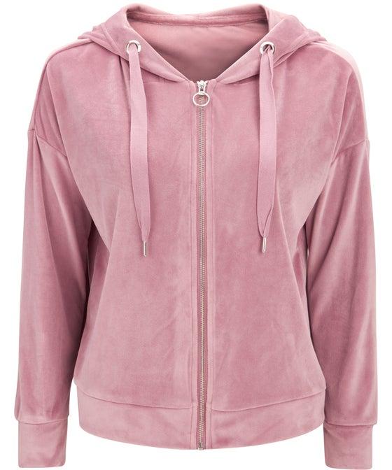 Women's Velour Hooded Jacket