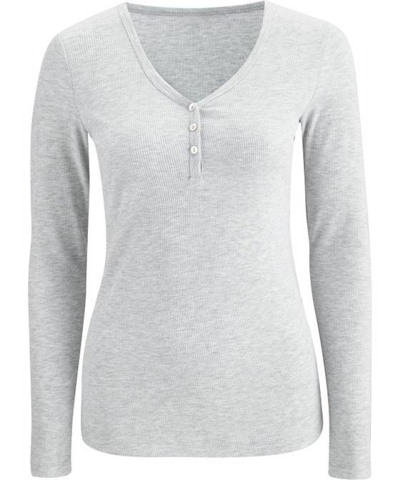 Women's Long Sleeve Button Up Sleep Top