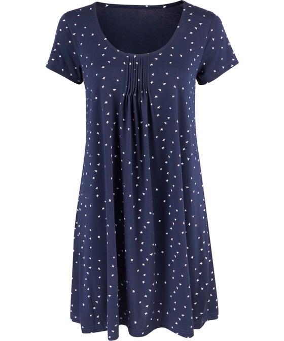 Women's Short Sleeve Swing Print Nightie