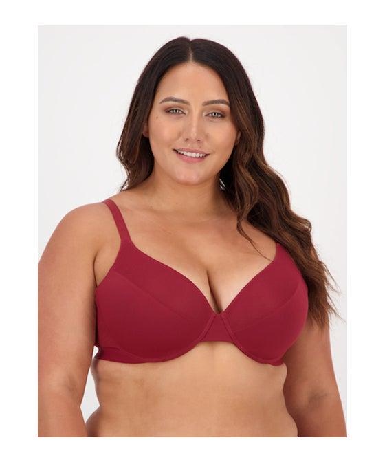 Women's Full Figure Mesh Insert T-shirt Bra