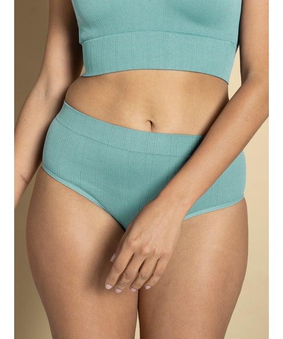 Women's Seam Free Rib Brazilian Bikini Brief
